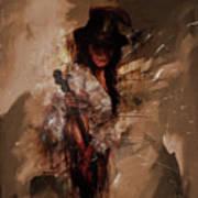 Violin Lady  Art Print