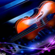 Violin On Piano Art Print