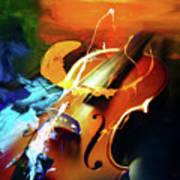 Violin Painting Art 51 Art Print