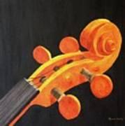 Violin Scroll Art Print