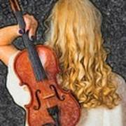 Violin Woman - Id 16218-130709-0128 Art Print
