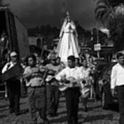 Virgen Concepcion De Ataco Bnw 2 Art Print