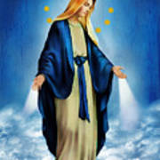 Virgen Milagrosa Art Print by Bibi Romer