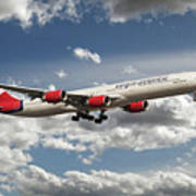 Virgin Airbus A340 G-vgas Art Print