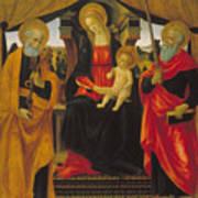Virgin And Child Between Saint Peter And Saint Paul Art Print