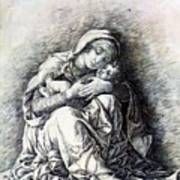 Virgin And Child Madonna Of Humility 1490 Art Print