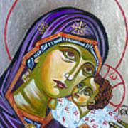 Virgin Of Tenderness Eleusa Art Print