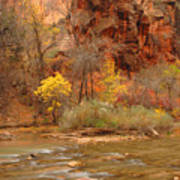 Virgin River At The Narrows Art Print
