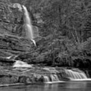 Virgina Falls In The Pool - Black And White Art Print