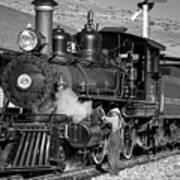 Virginia And Truckee Engine 25 Monochrome Art Print