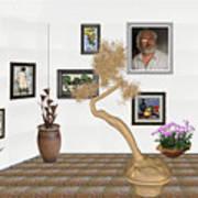 Virtual Exhibition - Statue Of Bonsai 1 Art Print