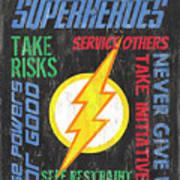 Virtues Of A Superhero 2 Art Print
