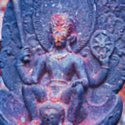 Vishnu Astride Garuda Art Print