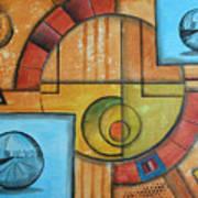 Visions Of Red Wheel Art Print