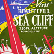Visit Beautiful Sea Cliff Art Print