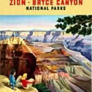 Visit Grand Canyon - Restored Art Print