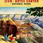 Visit Grand Canyon - Vintgelized Art Print
