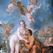 Visit Of Venus To Vulcan Art Print