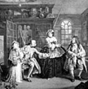Visit To The Quack Doctor, 1745 Art Print
