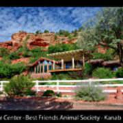 Visitor Center Best Friends Animal Sanctuary Angel Canyon Knob Utah 02 Text Black Art Print
