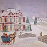 Visitors - Christmas Eve Art Print