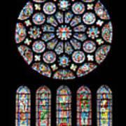 Vitraux - Cathedrale De Chartres - France Art Print