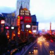Viva Las Vegas Painting Art Print