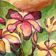 Vivian's Plumeria Art Print