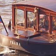 Vltava River Boat Art Print
