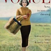 Vogue Magazine Cover Featuring Model Va Taylor Art Print