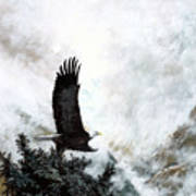 Voice Of The Eagle Reaches Toward The Heavens Art Print
