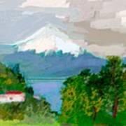 Volcanes Sur De Chile Art Print by Carlos Camus