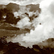 Volcanic Steam Art Print