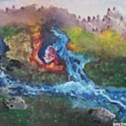 Volcano Delta Art Print