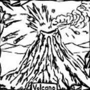 Volcano Maze Art Print
