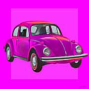 Volkswagen Beetle So Pinks Art Print