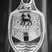 Volkswagen Vw Beetle Emblem -0949bw Art Print