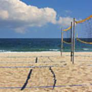 Volleyball Net Art Print