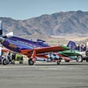 Voodoo Engine Start Sunday Gold Unlimited Reno Air Races Art Print
