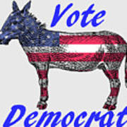 Vote Democrat Art Print