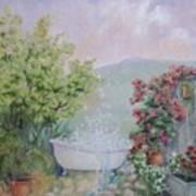 Voyeur At The Secret Garden Health And Beauty Spa Art Print