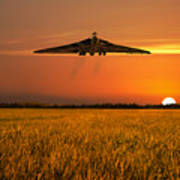 Vulcan Farewell Fly Past Art Print