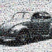 Vw Bug Volkswagen Mosaic Art Print