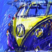 Vw Bus Blue Art Print