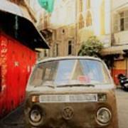 Vw Bus Parked In Basta Beirut  Art Print