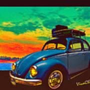 Classic Surf Rod Art Print