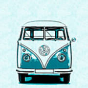 Vw Van Graphic Artwork Art Print