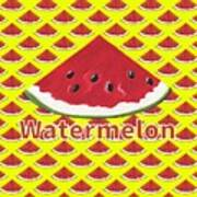 W Is For Watermelon Art Print