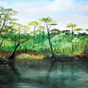 Waccamaw River - Impressionist Art Print