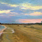Wades Beach Sundown Study II Art Print